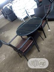 Rattan Chair And Table With Leather Sit | Furniture for sale in Lagos State, Ojo