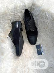 Black Leather X Suede Lace Up Shoe. | Shoes for sale in Lagos State, Lagos Mainland