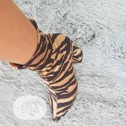 Tiger Skin Ankle Boot Heel | Shoes for sale in Abuja (FCT) State, Gwarinpa