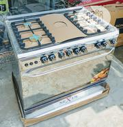 Original Nexus Six Burners 4 And 2 Gas Cooker Auto Ignition With Oven | Restaurant & Catering Equipment for sale in Lagos State, Maryland