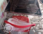 Imported Foldable Table With Chair Red   Furniture for sale in Lagos State, Surulere