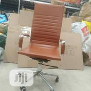 Valuable Brown Leather Office Chair   Furniture for sale in Lagos State, Magodo