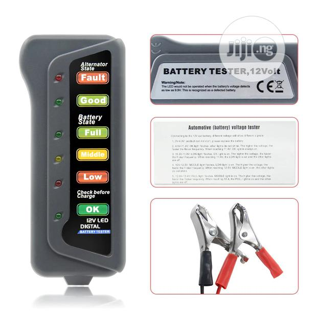 Archive: Mini 12V Car Battery, Alternator Digital Tester 6 LED Lights Display