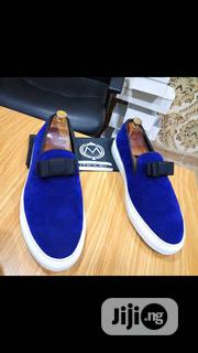 Blue Velvet Sneakers | Shoes for sale in Lagos State, Mushin