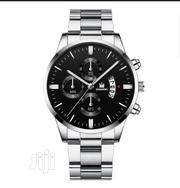 Men's Stainless Steel Watch Date And Calender Quartz Wrist Watchs | Watches for sale in Lagos State, Ikeja