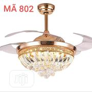 Crystal Chandelier Ceiling Fan With Remote Control 3 Different Colors | Home Accessories for sale in Lagos State, Magodo