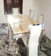 High Quality Marble Dining Table by Six Seater | Furniture for sale in Oyo State, Egbeda