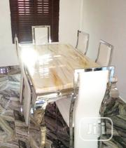 Lovely Marble Dining Table by Six Seater | Furniture for sale in Oyo State, Ibadan