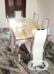 Brand New Marble Dining Table by Six Seater | Furniture for sale in Oyo State, Ibarapa Central