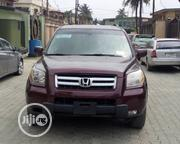 Honda Pilot 2007 EX-L 4x4 (3.5L 6cyl 5A) Red   Cars for sale in Lagos State, Ikeja