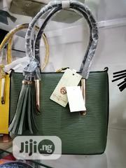 Army Green and Gold Quality Leather Bag - House of Milano | Bags for sale in Lagos State, Ikeja