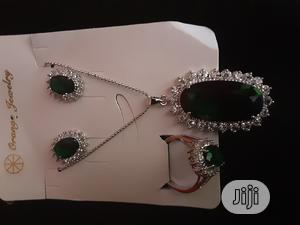 Cubic Zirconia Chain, Earrings, Pendant And Ring