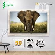 "Syinix 50"" Inch Android 4k UHD Smart LED TV- T730U Series 