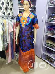 Senegalise Net And Ankara Kaftan Gown | Clothing for sale in Lagos State, Mushin