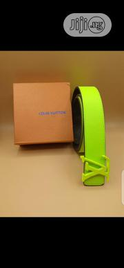 Latest Louis Vuitton Belt Original Quality Green | Clothing Accessories for sale in Lagos State, Surulere