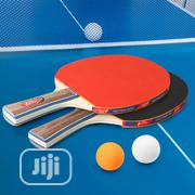 2pcs/Lot Table Tennis Bat Racket Double Face With Bag 3 Balls | Sports Equipment for sale in Lagos State, Lekki Phase 1