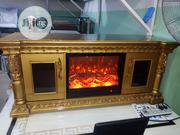 Golden Fire Place TV Stand | Furniture for sale in Lagos State, Ojo