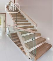 Framless Handrail With Wood And Glass Balusters | Building Materials for sale in Lagos State, Victoria Island