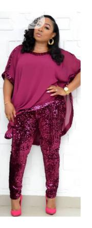 3 Pcs Sequence Trouser With A Free Top | Clothing for sale in Lagos State, Lagos Island