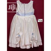 Tous Jours Classy Off White Girl's Dress with Ribbon | Children's Clothing for sale in Lagos State, Lekki Phase 1