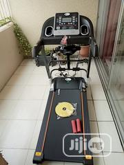 Brand New 1.5hp Treadmill With Massager Aerobic Dumbbell and Twister | Sports Equipment for sale in Lagos State, Surulere