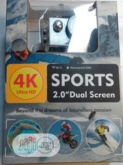 """NEW 4K Ultra HD Wi-Fi 30FPS Waterproof 2.0"""" Dual Screen Action Camera   Photo & Video Cameras for sale in Lagos State, Ikeja"""