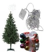 6ft Christmas Tree With Multicolored Lights Balls for Decoration | Home Accessories for sale in Lagos State, Ojo