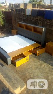 Bed Frame With Drawer And Bookshelf, Then Bed Side With 2 Drawers | Furniture for sale in Oyo State, Ido
