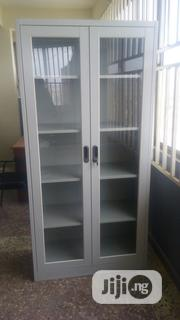 Metal Cupboard/Shelf With Glass Swinging Doors | Furniture for sale in Lagos State, Ojo