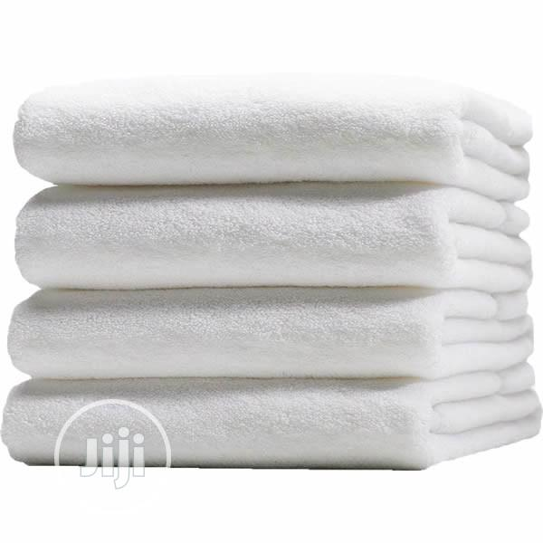Quality Bath Towel, White, 525gsm Hotel Quality