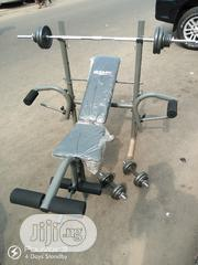 Weight Lifting Bench ,With 30kg Barbell and a Pair of 10kg Dumbell Set | Sports Equipment for sale in Lagos State, Surulere