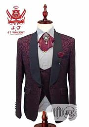 Italian Tuxedo Suit (Flowery Designed) | Clothing for sale in Lagos State, Lagos Island