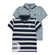 George 2 Pack Blue Striped Polo Shirts - 12-18months   Children's Clothing for sale in Lagos State, Shomolu