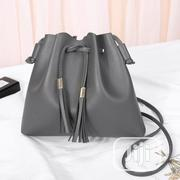 One Shoulder Bag Women Drawstring Tassel Bag Red, Black Darkgrey | Bags for sale in Lagos State, Surulere
