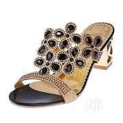 Women Shoes Rhinestone Summer Square Slippers Sandals-Black | Shoes for sale in Lagos State, Lagos Island