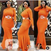 New Quality Female Orange Long Gown | Clothing for sale in Lagos State, Amuwo-Odofin