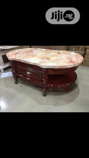 Royal Tv Stand And Center Table And Side Stool With Mable Top | Furniture for sale in Lagos State, Ojo