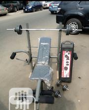 Weight Bench With 50kg Barbell | Sports Equipment for sale in Lagos State, Surulere