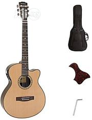 Pro Electroacoustic Semielecric Guitar-natural Color With Bag And Belt | Musical Instruments & Gear for sale in Lagos State, Ikeja