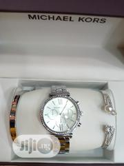 Michael Kors Silver Female Wrist Watch and Bracelet | Jewelry for sale in Lagos State, Surulere