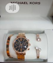 Michael Kors Gold Female Wrist Watch and Bracelet | Jewelry for sale in Lagos State, Surulere