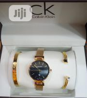 Calvin Klein Female Gold Wrist Watch and Bracelet. | Jewelry for sale in Lagos State, Surulere
