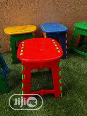 Plastic Stool With Red Cover | Children's Furniture for sale in Lagos State, Ikeja