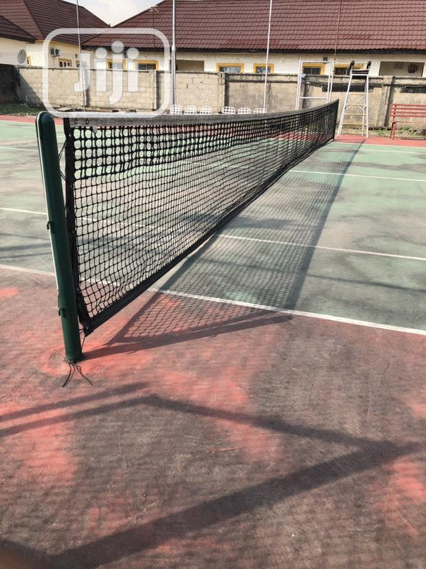 New Lawn Tennis Net And Post