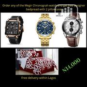 Megir Men Chronograph Quartz Business Wristwatch Awesome | Watches for sale in Lagos State, Ikorodu