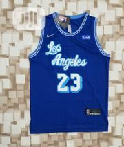 Newly Released Lebron James Lakers Hardwood Classic Blue Jersey | Clothing for sale in Lagos State, Lagos Mainland