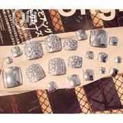 False Glitter Artificial Toenail Tips Sticker Manicure Art | Makeup for sale in Lagos State, Lagos Mainland
