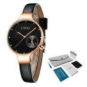 CIVO Women Leather Strap Quartz Watch | Watches for sale in Lagos State, Lagos Mainland