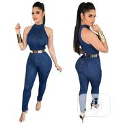 Sleeveless Denim Bodycon Jumpsuit | Clothing for sale in Lagos State, Ifako-Ijaiye