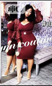 New Female Wine Vneck Gown | Clothing for sale in Lagos State, Amuwo-Odofin